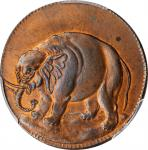 """1694"" (ca. 1869) Carolina Elephant token copy by J.A. Bolen. Copper. Musante JAB-33, Kenney-5, W-14"