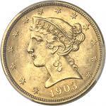 USA République fédérale des États-Unis d'Amérique (1776-à nos jours). 5 dollars Liberty 1903, Philad