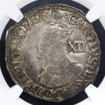 GREAT BRITAIN Charles I チャー儿ズ1世(1625~49) Shilling ND(1636~38) NGC-XF45 VF+