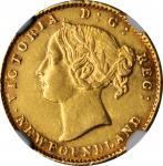 CANADA. Newfoundland. 2 Dollars, 1880. London Mint. Victoria. NGC AU Details--Rim Damage.