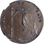 Great Britain--Middlesex. Undated (1790s) End of Pain Halfpenny Token. D&H-831, W-8992. Copper. MS-6