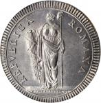 ITALY. Roman Republic. Scudo, ND (1799). NGC MS-64.