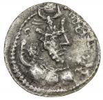SASANIAN KINGDOM: Yazdigerd II, 438-457, AR obol (0.39g), G-162, king s bust right // fire altar & t
