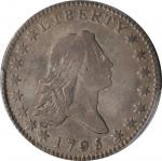 1795 Flowing Hair Half Dollar. O-108, T-17. Rarity-4. Two Leaves. Fine-15 (PCGS).