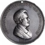 1862 Abraham Lincoln Indian Peace Medal. Silver. Medium Size. 62.1 mm. 1416.6 grains. Julian IP-39,