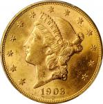 1903 Liberty Head Double Eagle. MS-62 (PCGS).