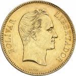 VENEZUELA Venezuela (République bolivarienne du) (depuis 1811). 100 bolivares 1886, Caracas.
