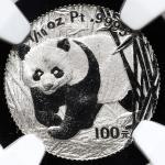 2002年熊猫纪念铂币1/10盎司 NGC PF 66