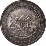 1914 Nevada State Agricultural Society Award Medal. Harkness-Unlisted. Silver. About Uncirculated.