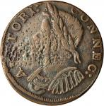 1786 Connecticut Copper. Miller 5.8-H.2, W-2625. Rarity-5+. Mailed Bust Left. EF Details—Environment