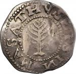 1652 Pine Tree Shilling. Large Planchet. Noe-9, Salmon 7a-Diii, W-750. Rarity-6. Without Pellets at