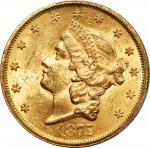 1875-S Liberty Head Double Eagle. MS-62 (PCGS).