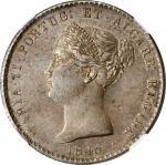 PORTUGAL. 1000 Reis, 1845. Maria II. NGC AU-53.