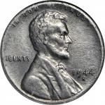 1944-S Lincoln Cent--Struck on a Zinc-Coated Steel Planchet--EF-40 (NGC).