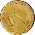 MEXICO. 4 Escudos, 1825-Mo JM. Mexico City Mint. PCGS AU-58 Gold Shield.
