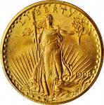 1908 Saint-Gaudens Double Eagle. No Motto. MS-64+ (PCGS). CAC.