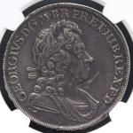 GREAT BRITAIN George I ジョージ1世(1714~27) Crown 1723SSC NGC-XF DetailsCleaned 洗浄 VF+