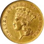 1862 Three-Dollar Gold Piece. AU-55 (NGC).