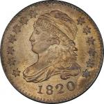 1820 Capped Bust Dime. John Reich-10. Rarity-3. Small 0. Mint State-65+ (PCGS).