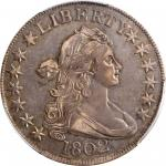 1802 Draped Bust Half Dollar. O-101, T-1, the only known dies. Rarity-3. AU-53 (PCGS).