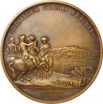 Pair of matched uniface impressions of the Washington Before Boston medal. Fifth Paris Mint issue (c