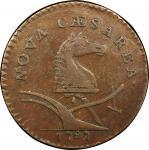 1787 New Jersey copper. Maris 62-q. Rarity-3. Large Planchet. EF-40 (PCGS).