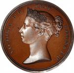 1840 Queen Victoria Royal Medal. Small Size. Jamieson Fig. 31. Copper, Bronzed. Choice Mint State.