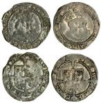Edward VI (1547-53), coinage in the name of Henry VIII, Groats (2), both Canterbury, 2.68g, m.m. non