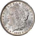 1892-CC Morgan Silver Dollar. MS-63 (NGC).