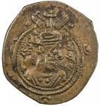 SASANIAN KINGDOM: Khusro II, 591-628, AE pashiz (0.97g), BYSh (Bishapur), year 30, G-216, lovely pre