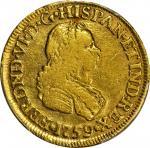 COLOMBIA. 2 Escudos, 1759/8-J. Bogota Mint. Ferdinand VI (1746-59). PCGS VF-35 Gold Shield.