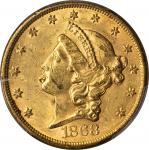 1868-S Liberty Head Double Eagle. AU Details--Damage (PCGS).