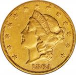 1864-S Liberty Head Double Eagle. AU-50 (NGC).