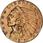 1915 Indian Quarter Eagle. MS-65+ (NGC). CAC.