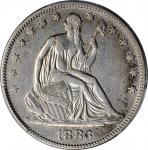1883 Liberty Seated Half Dollar. WB-101. VF Details--Damage (PCGS).