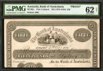 AUSTRALIA. Bank of Australasia. 50 Pounds, ND (1878-1910). P-Unlisted. Proof. PMG Uncirculated 62 Ne