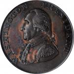 1791 Small Eagle Cent. Musante GW-17, Baker-16, W-10630. UNITED STATES Edge. MS-62 BN (PCGS).