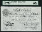 Bank of England, Cyril Patrick Mahon (1925-1929), 」5, London 15 June 1928, serial number 178/H 31198