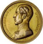 BELGIUM. Memorial Gilt Copper Medal, 1842. EXTREMELY FINE.