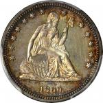 1860 Liberty Seated Quarter. Proof-64 (PCGS).
