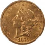 1875-S Liberty Head Double Eagle. AU-58 (NGC).