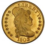 1803/2 Capped Bust Right Half Eagle. Bass Dannreuther-4. Rarity-4. Mint State-66+ (PCGS).