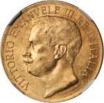 ITALY. 50 Lire, 1911-R. NGC MS-62.