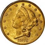 1876-CC Liberty Head Double Eagle. MS-61 (NGC). CAC.