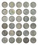 14531   民国 1914年 中华民国三年袁世凯像壹圆银币一组十五枚,美品-上美品
