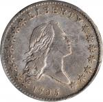 1795 Flowing Hair Half Dollar. O-130, T-8. Rarity-5-. Two Leaves. VF Details--Graffiti (PCGS).
