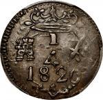 COLOMBIA.Santa Marta. 1820 1/4 Real. Restrepo 104.1. Copper. AU-53 (PCGS).