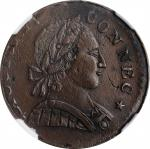 1788 Connecticut Copper. Miller 2-D, W-4405. Rarity-1. Mailed Bust Right. AU Details--Corrosion (NGC