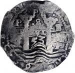 BOLIVIA. 8 Reales, 1653-P E PH. Potosi Mint. Philip IV. NGC VF Details--Salt Water Damage.