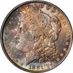 1881 Morgan Silver Dollar. MS-66+ (PCGS). CAC.